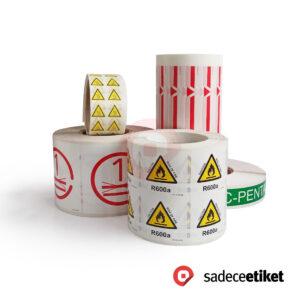 beyaz pp etiket, uyarı etiketleri, baskılı etiket, ürün etiketleri, pp opak etiket çeşitleri, etiket fiyatları