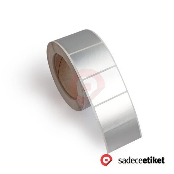 demirbaş etiketi gümüş etiket silver etiket silver mat etiket kayseri fasson etiket alüminyum etiket