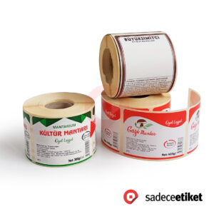 termal etiket gıda etiketi lamine termal etiket barkod etiketi kayseri