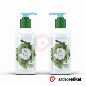 şeffaf etiket sabun etiketi şişe etiket pp etiket